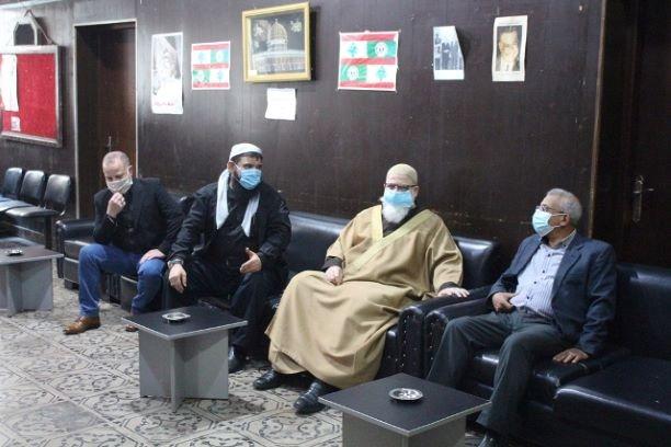اسامة سعد بحث والقوى الاسلامية في مخيم عين الحلوة المستجدات على الساحتين اللبنانية والفلسطينية