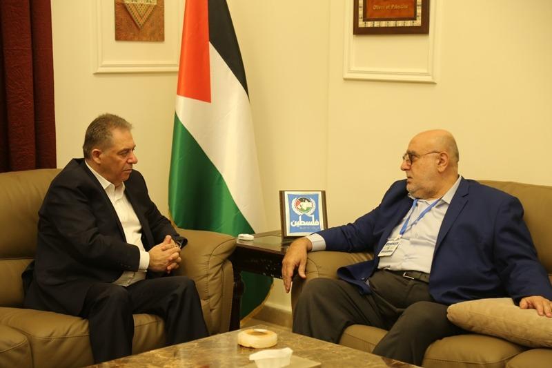 السفير دبور بحث وحمدان مواجهة مشاريع الاحتلال ضد الفلسطينيين