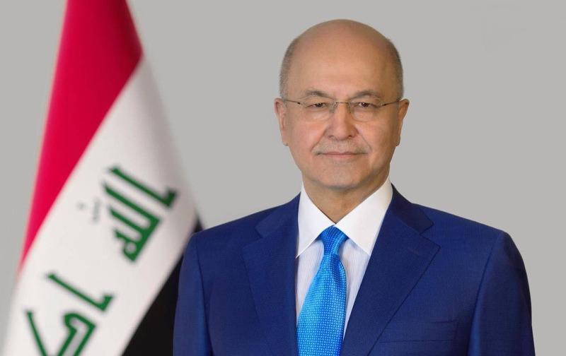 الرئيس العراقي: سندعم فلسطين عمليا وواقعيا