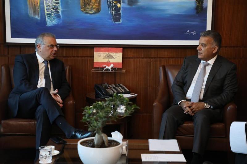 اللواء إبراهيم استقبل وزير الداخلية القبرصي