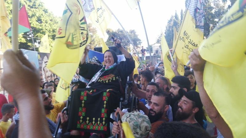مسيرة دعم ومبايعة للرئيس عباس والسلطة الوطنية والاجهزة الأمنية الفلسطينية في صور - مخيم البص