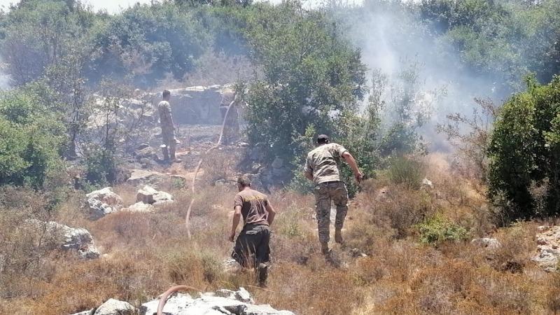 الحرائق تنتشر في مناطق متفرقة من لبنان