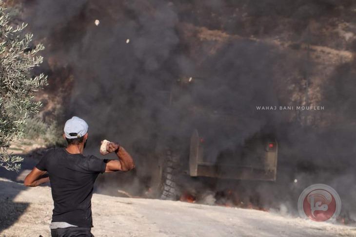49 اصابة خلال مواجهات جبل صبيح مع الاحتلال