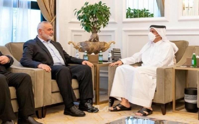 هنية يلتقي وزير الخارجية القطري