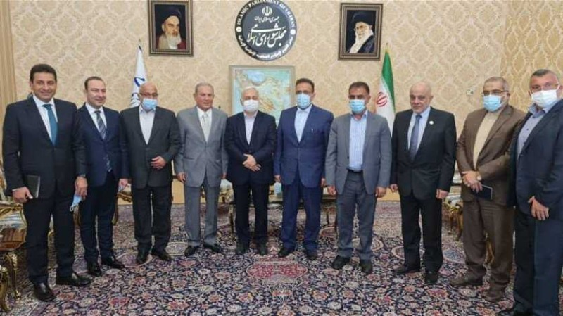 """وفد """"أمل"""" التقى رئيس مجلس الشورى الإيراني قاليباف: نحن الى جانب الشعب اللبناني الشقيق"""
