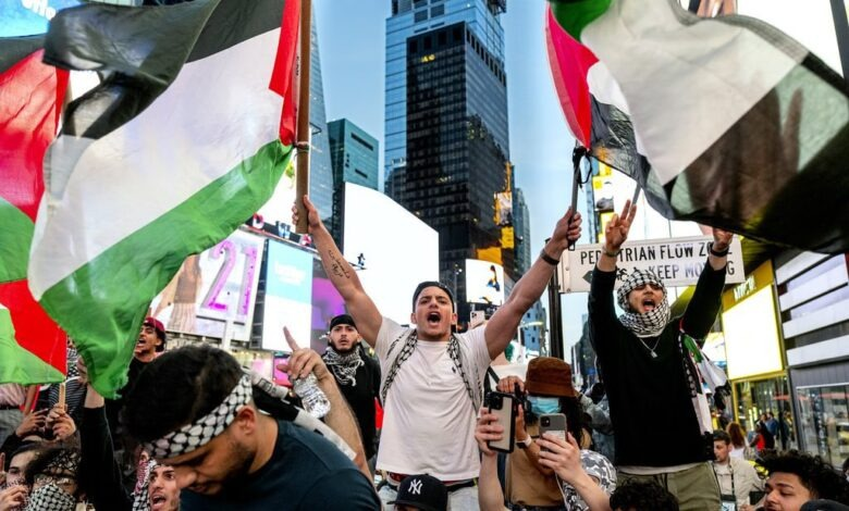 تظاهرة في مدينة مينيابولس تطالب بوقف الدعم الأميركي لكيان الاحتلال الإسرائيلي