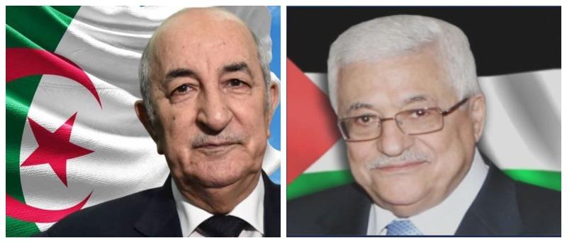 الرئيس عباس يعزي نظيره الجزائري بضحايا الحرائق