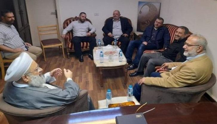 وفد من حزب الله زار البزري وحمود في صيدا وقدم التعازي للنائب سعد