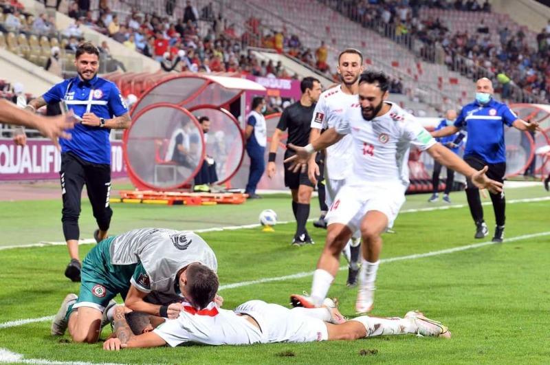 فوز لبنان3-2 على سوريا في الجولة الرابعة ضمن منافسات المجموعة الأولى في الدور النهائي من التصفيات الآسيوية