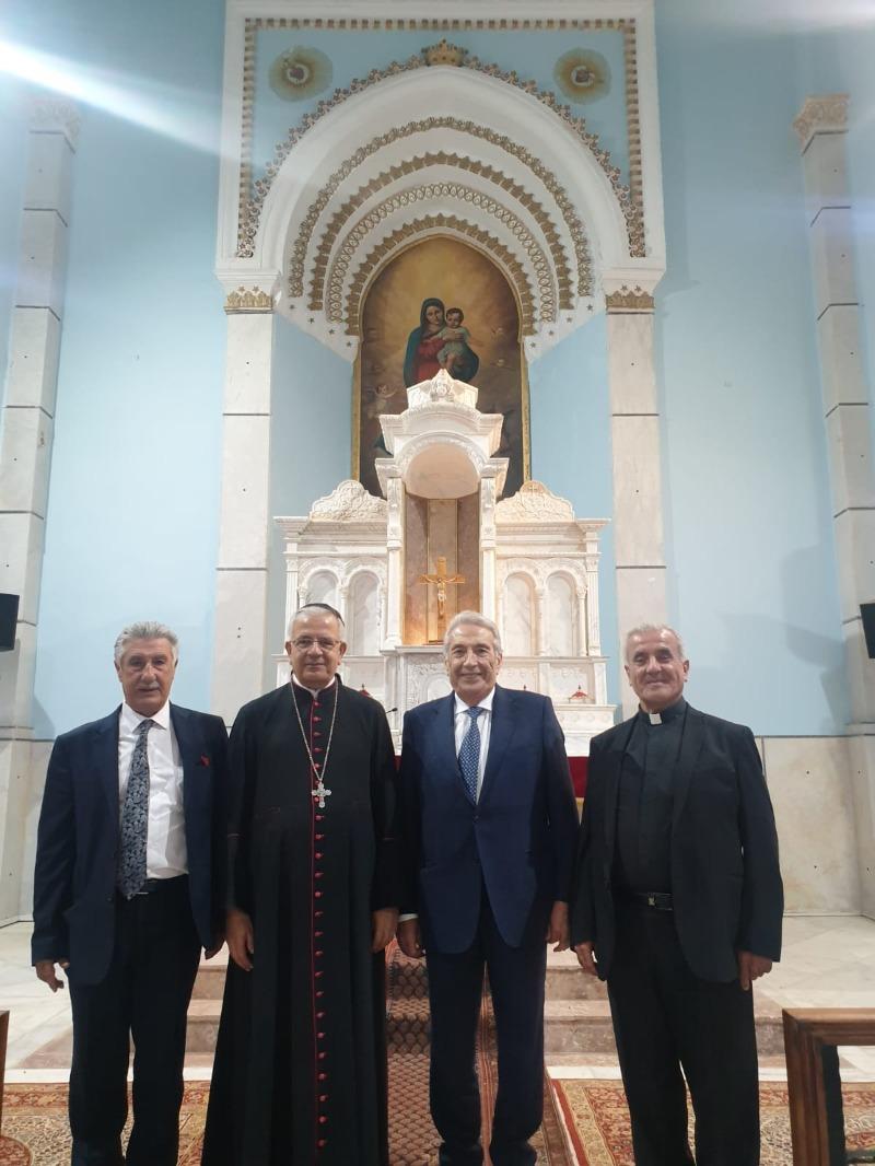 المهندس سمير الخطيب زار المطران العمار في بيت الدين وتشديد على تعزيز العيش المشترك والمصالحة